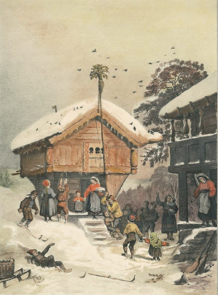 A Norwegian Christmas, 1846 painting by Adolph Tidemand.