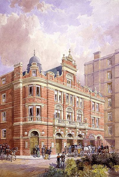 Original façade of the Savoy Theatre c.1881
