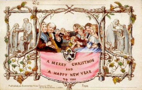 The first Christmas card. 1843.