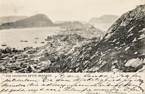 Ålesund after the major fire in 1904