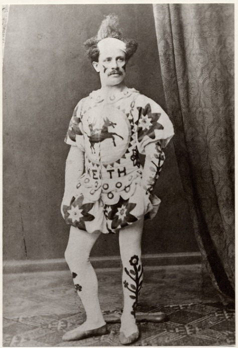 Charlie Keith, famous Victorian clown and circus owner, 19th century.