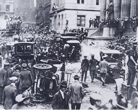 The Wall Street bombing occurred at 1201 pm on Thursday, September 16, 1920, in the Financial District of New York City. The blast killed 38 and seriously injured 143.