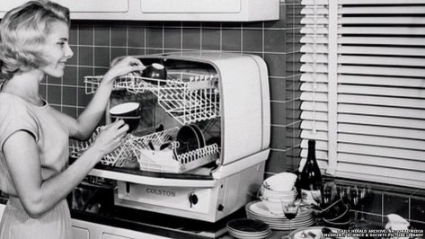 This 1960s dishwasher by Charles Colston Ltd cost 85 guineas.