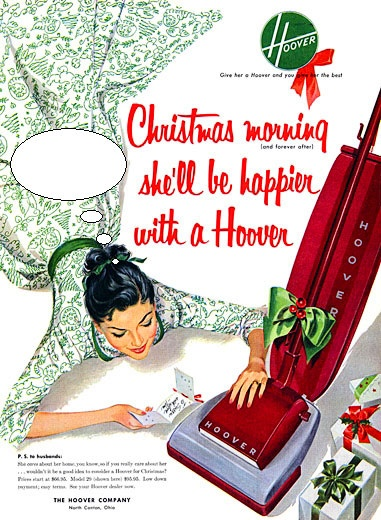 Vintage Hoover Christmas Advertisement