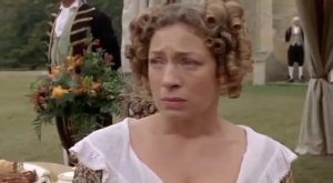 Lost in Austen episode three Mrs Bennet sad Sonya Heaney