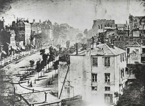 Boulevard du Temple, Paris, c. 1838. Louis-Jacques-Mandé Daguerre