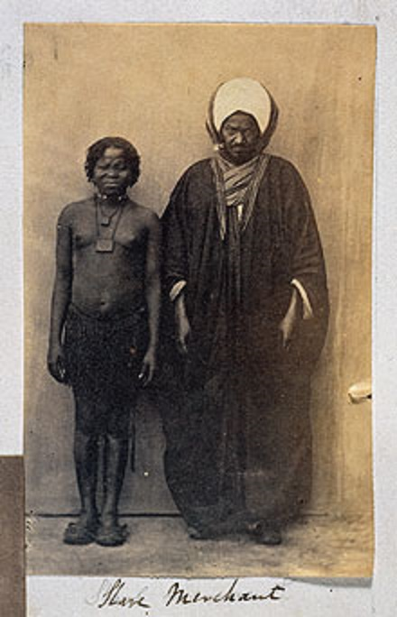 Egyptian_Slavemaster_and_SlaveEgyptian slavemaster and Waswahili (Swahili) slave.