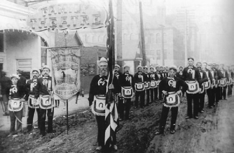 History-1881-ParadeThe first St. Patrick's Day parade in Butte, Montana. 1881.