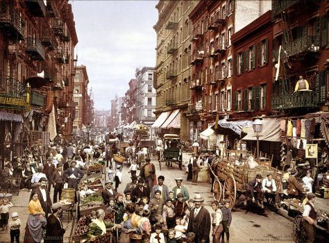 Mulberry Street NYC c1900 Little Italy USA