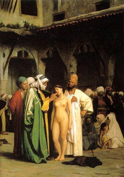 The Slave Market (1867) a depiction of the Arab slave trade by French artist Jean-Léon Gérôme
