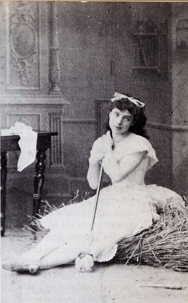 Virginia Zucchi as Lise in Marius Petipa and Lev Ivanov's revival of La Fille mal gardée, St. Petersburg, 1885.