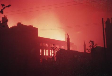 london-burning-during-blitzLondon Burning During the Blitz London, England 1940.