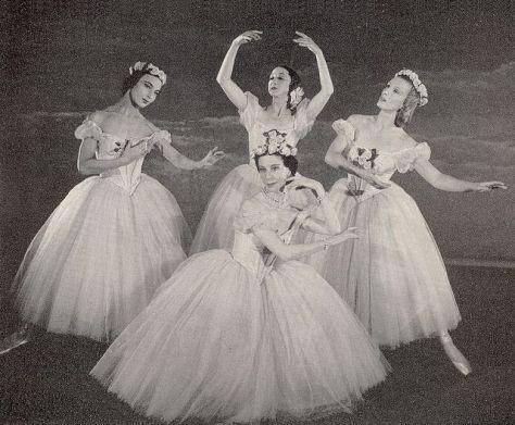 1st January 1951 Pas de Quatre with Tatiana Krassovskaya, Alexandra Danilova, Tatiana Riabouchinska and Alicia Markova.