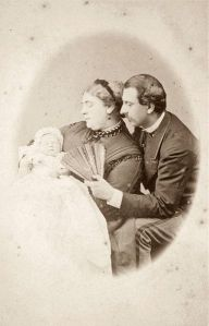 Mary of Teck as an infant with her parents.