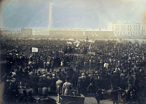 The Great Chartist Meeting on Kennington Common in 1848