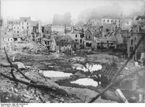 Frankreich, St. Lô, Zerstörungen