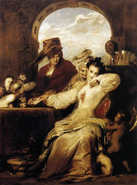 443px-Josephine_and_the_Fortune-Teller_1837_David_Wilkie
