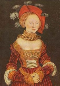 Emilie of Saxony was born on the 27th of July, 1516. As a teenager she was married off to Margrave George the Pious of Brandenburg-Ansbach. Her husband – more than three decades her senior – had had two wives before her.