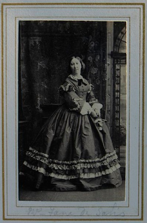 Emily-Harriet Mayne (1816–96), Mrs Fane De Salis from 1859In charge of Teffont from 1852–1896. This portrait was made by Camille Silvy, on 30 April 1861.