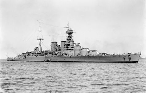 HMS Hood, the largest battlecruiser ever built, in Australia on 17th March 1924.