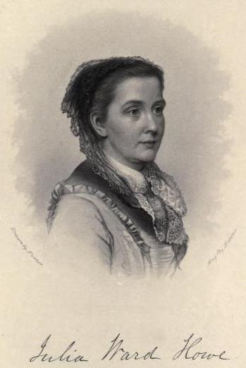 Image of Julia Ward Howe as it appears on page 793 of Volume 2 of the History of Woman Suffrage, which was published in 1887.