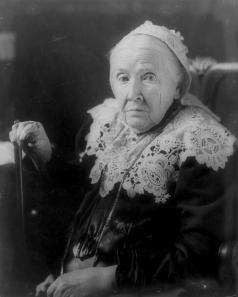 Julia Ward Howe, half-length portrait, seated, facing left. Date c1908 Apr. 27.