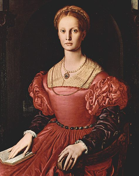 Portrait of Lucrezia Panciatichi by Bronzino. circa 1540