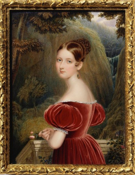 Princess Victoria, by Henry Collen (1836) at the age of 17, the year before she became Queen.
