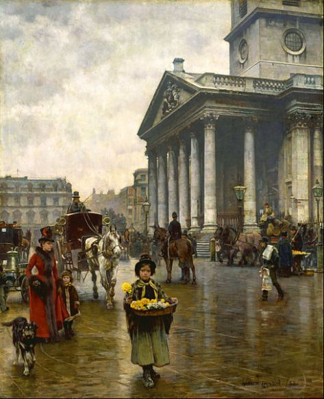 St Martin-in-the-Fields by English painter William Logsdail, 1888.