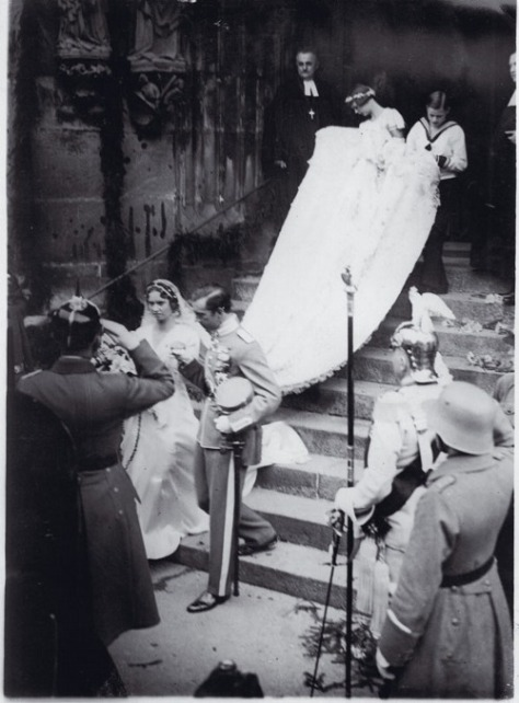 Wedding of Prince Gustaf Adolf, Duke of Västerbotten to Princess Sibylla of Saxe-Coburg and Gotha. 19th October, 1932.