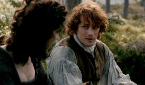 Outlander 1x06 The Garrison Commander Claire and Jamie Sonya Heaney Sceenshot