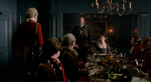 Outlander 1x06 The Garrison Commander Lunch Dougal Claire Redcoats Sonya Heaney Sceenshot