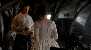 Outlander 1x07 The Wedding Jamie and Claire Toast Sonya Heaney