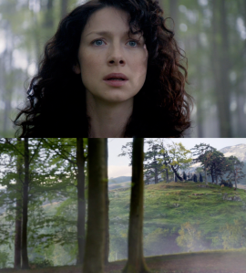 Outlander 1x08 Claire sees the stones Sonya Heaney