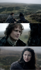 Outlander 1x08 Jamie and Claire Honeymoon Sonya Heaney
