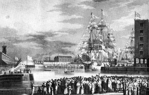 St Katharine Docks opened in London in 1828
