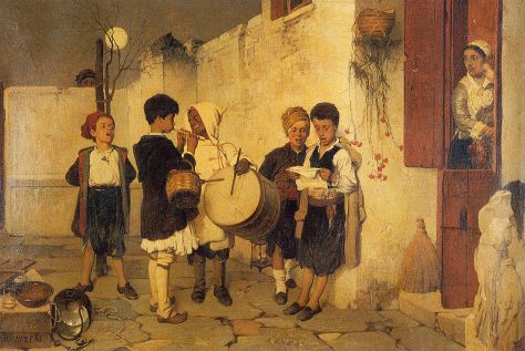 Christmas in Greece Nikiphoros Lytras, Carols, 1872. Greece.