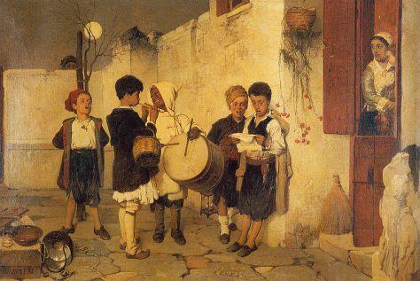 Christmas in Greece Nikiphoros Lytras, Carols, 1872. Greece.