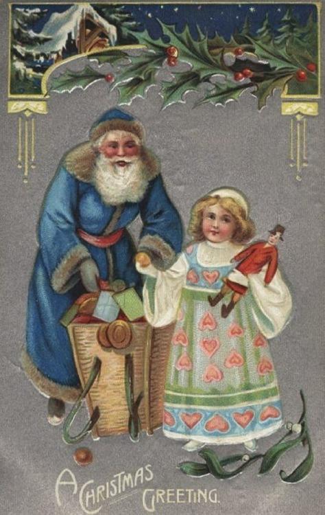 db_Blue_St__Nick Victorian Era Christmas Postcard3