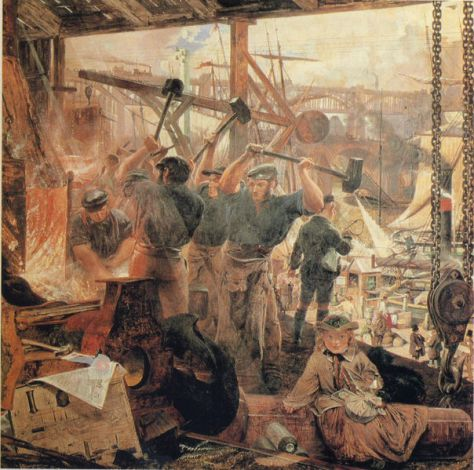 Iron and Coal 1855 to 60 by William Bell Scott