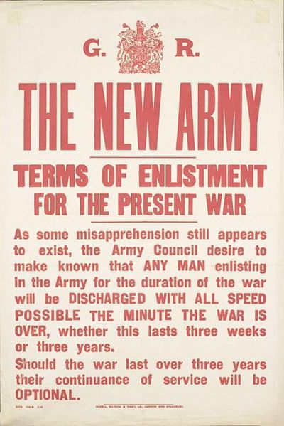 400px-New_Army_Terms_of_Enlistment_poster_Aug_1914_IWM