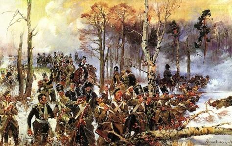Kossak_Battle_of_Olszynka_GrochowskaBattle of Olszynka Grochowska 25th February 1831 painted 1931