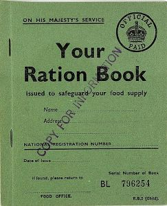 UK Childs Ration Book WW2