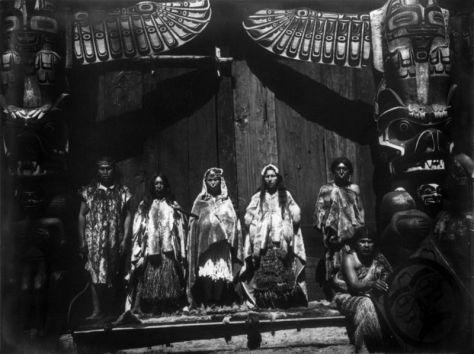 A Kwakwaka'wakw wedding ceremony in 1914 Vancouver Island Canada