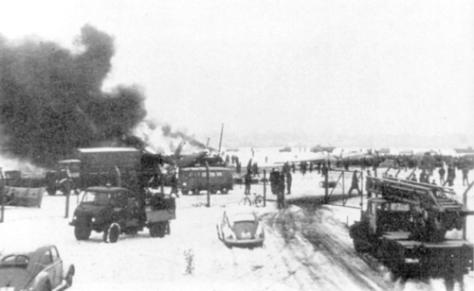 Airspeed Ambassador G-ALZU Burning At Munich 1958