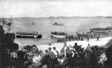 Anzac Beach 4th Bn landing 8am April 25 1915.