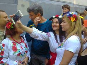 Boris Nemtsov during the Vyshyvanka Rally in Ukraine's Odesa, June 2014.