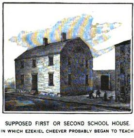 First Boston Latin School House. Circa 1635.