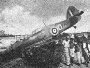 Hawker Hurricane of No. 232 Squadron RAF shot down on 8 February 1942.
