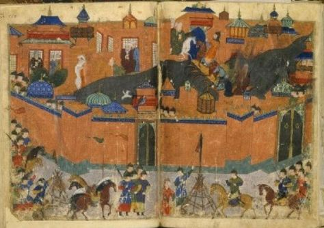 Mongols besieging Baghdad in 1258 circa 1430